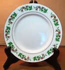 4 Gibson Houswares Christmas Charm Dessert Plate Fine Porcelain China Excellent
