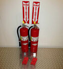 lot of 2-10lb abc fire extinguisher new certification tag scratch
