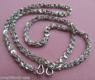 Perfect 17.7INCH Platinum 950 Necklace 3mm Chain / Stamp: Pt950 / 13.73g