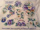 Daisy Kingdom No Sew Applique Pansies for Thoughts 6381 Fabric Panel