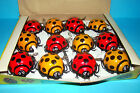 12 x TOY TIN PLASTIC WIND UP MISTERY ACTION LADYBUGS BUGS 1 WHOLESALE RETAIL BOX