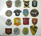 PATCH -  LOT OF 16 items - Free shipping- USSF- AIRBORNE - ARVN - SPECIAL FORCES