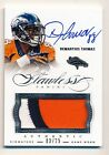 2014 Flawless * DEMARYIUS THOMAS * On Card AUTOGRAPH PATCH #3 25