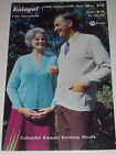 Kaiapoi #576 Vintage V Neck Cardigans 4ply Machine Hand Knitting Pattern