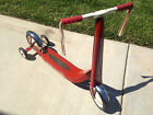 Vintage Retro Red Radio Flyer Scooter with Training Wheels