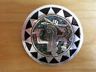 Vintage Taxco Sterling Silver Pendant or Pin with Abalone and Onyx - circa 1970s