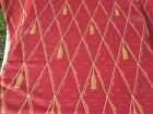 3 Yard Trompe L'Oeil Tassle by Waverly 100% Cotton Red & Gold Upholstery Fabric