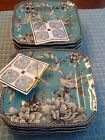 222 Fifth Adelaide Turquoise 2 Sets Os Small Appetizer/Dessert/Bread Plates