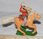 Britains swoppet mounted cowboy with lasso      B