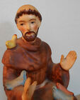 Porcelain vtg St. Francis of Assisi & Birds Religious Statue figurine-ANIMAL