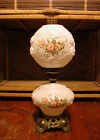 BEAUTIFUL 22 GONE WITH THE WIND VTG LAMP WHITE MILK GLASS RAISED