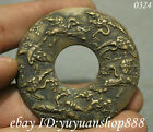 52MM Folk Chinese Old Bronze Dynasty Palace Crane Coin Bi Amulet Pendant 鹤寿千年
