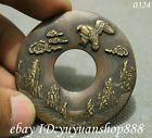 Chinese Old Bronze Dynasty Palace Coin Eagle Hawk Statue Amulet Pendant 鹏程万里