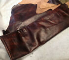 T13 Leather Cow Hide Cowhide Upholstery Craft Fabric Fiona Copper Brown Red Tint