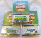 Hot Wheels BRAZIL 2010 complete set Drag Bus DEco Delivery VW fastback mint