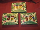 Vintage Shiny Brite Christmas Ornaments Barrel Bell Lantern Unsilvered Lot