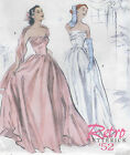 Retro Vintage '52 Butterick Pattern Misses Sexy Dress Wedding Formal 14-16-18-20