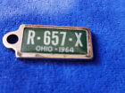 Vintage 1964 - Ohio Plate Disabled Vets 1 3/8 x 1/2 Pentant