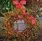 LARGE Spring Summer Wreath Floral Country NATURES ORANGE BERRY Door Wreath Decor