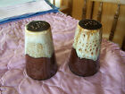 Ceramic Pottery Canonsburg McCoy Brown Drip Salt Pepper Shakers