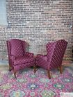 FAIRFIELD Pair Queen Anne Leg Petite Size Wing Back Fireside Chairs