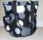New Thirty One 31 Retro Metro Bag Black Happy Dot