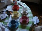 Fiestaware Cups and Saucers Assorted Colors Great Condition 5 Sets Total LQQK!!!