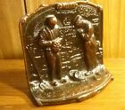 1930s COPPERED CAST IRON BOOK END 'THE ANGELUS' Jean-Francois Millet