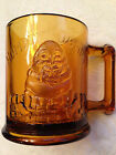 VINTAGE TIARA SANDWICH GLASS HUMPTY DUMPTY TOM TOM PIPER'S SON MUG AMBER MINT!