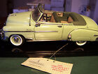 FRANKLIN MINT GREEN 1950 CHEVROLET STYLE  DELUXE CONVERTIBLE  WITH CLEAR  CASE