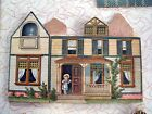 Victorian Toy, McLoughlin Bro's N.Y. 1897 The Pretty Village-chromolitho-5 total