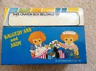 VINTAGE RAGGEDY ANN AND ANDY 1976 TIN CRAYON BOX