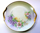 Bavaria Germany Hand Painted Floral Porcelain 11in Cake Plate (Marked)