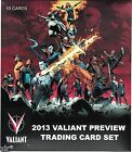 VALIANT COMICS 2013 PREVIEW TRADING CARD SET SAN DIEGO COMIC CON 2013 EXCLUSIVE