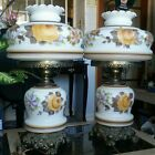 Pair of GWTW Large Antique Gone With the Wind Hurricane Victorian Parlor Lamps