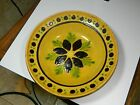 Vintage French Alsace Yellow Hand Painted plate