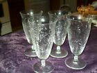 CUT CRYSTAL SET OF 4 WATER GOBLETS 6.75