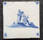 Antique Rare Dutch Delft Tile Biblical/Mythologic Circa 1700