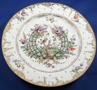 Rare 18thC Nymphenburg Porcelain Fancy Design Plate Porzellan Teller Bird Flower