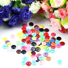 100Pcs 10MM Mix Color DIY 2 Holes Round Resin Buttons Scrapbooking Sewing Craft