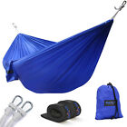 Hammock Double Camping Portable Swing Outdoor w/Tree Straps - Blue - ²SGR8F