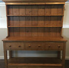 Large Antique Pine English Pot Board Dresser / Cupboard, Kitchen Hutch Cabinet