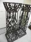 GORGEOUS PAIR 2 WROUGHT IRON PEDESTALS MANNER OF EDGAR BRANDT