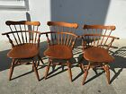 Beautiful Ethan Allen Comb Back Side Heirloom Nutmeg Maple Dining Table Chairs