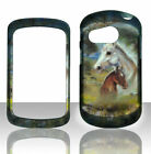 2D racing horse For Pantech Swift P6020 slider rubberized hard Cover Case