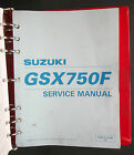 Service Shop Repair Manual SUZUKI 1999 GSX750 GSX 750 F S317