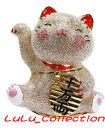 Large RUCINNI Swarovski Crystal Japan Maneki Neko Fortune Lucky Cat Trinket Box