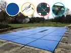 Water Warden Solid Safety Pool Cover w Drain Blue Green 20 Yr Choose Size