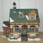 Heartland Valley Porcelain Lighted Christmas Village Building HOUSE WITH SHED