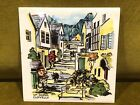Vintage Hand Painted Tile - Up-Along Clovelly - Made in England